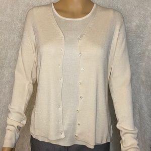 Ann Taylor 100% Silk 2-piece sweater/tank top-S